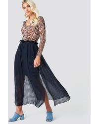 Rut&Circle Blue Pleated Frill Skirt