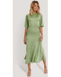 Glamorous Satijnen Midi-jurk - Groen