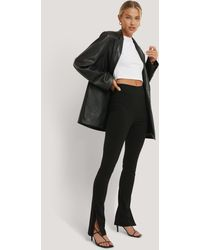 NA-KD Pantalon Slim Super Stretch - Noir