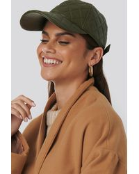 NA-KD Accessories Quilted Baseball Cap - Grün