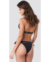 Calvin Klein Cheeky String Side Tie Bikini - Zwart