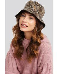 NA-KD Snake Look Bucket Hat - Groen