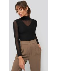 Trendyol Transparent Knitted Blouse Black