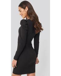 Trendyol Lace Detailed Mini Dress Black
