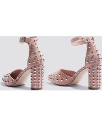 NA-KD Metal Studs Pointy Pumps Dusty Pink