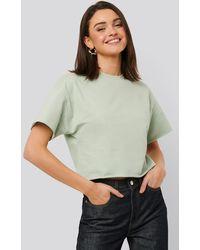 NA-KD Basic Sweatshirt Tee - Grün