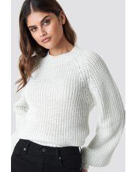 Rut&Circle - Bell Sleeve Lurex Knit White - Lyst