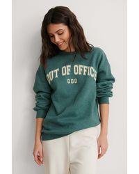 NA-KD Sweatshirt - Grün