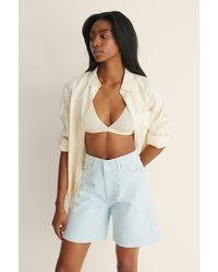 Trendyol Blue Denim Long Shorts