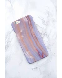 NA-KD - Iphone Case 6/6s Light Purple Marble - Lyst