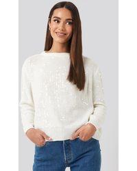 Trendyol Sequin Sweater - Blanc