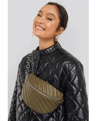 NA-KD Quilted Fanny Pack - Groen