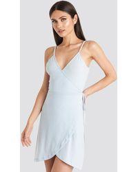 NA-KD Wrap Mini Dress - Blauw