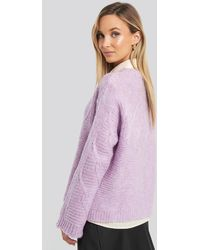 Trendyol Knit Detail Sweater Purple