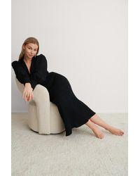 NA-KD Trend Maxi-jurk Met Ballonmouwen - Zwart