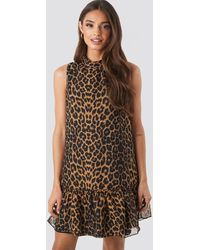 Trendyol Leopard Print Mini Dress - Braun