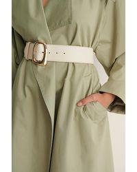 NA-KD Accessories Tailleriem Met Oneven Gesp - Naturel
