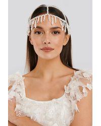 NA-KD Accessories Pearl Hair Detail Net - Weiß