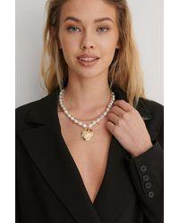 NA-KD Pendentif Grosse Perle - Métallisé