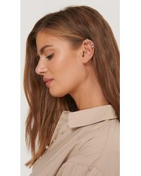 NA-KD Double Pack Sparkling Ear Cuff Set - Metallic