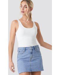 Calvin Klein Mid Rise Skirt - Blau