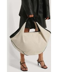 NA-KD Accessories Canvas Contrast Shopper Bag - Schwarz