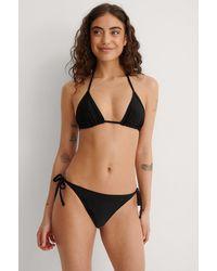 NA-KD Swimwear Recycelt Bikini-Höschen Mit Schnüren - Schwarz