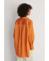 NA-KD Trend Recycelt Übergroße Tasche Oberteil - Orange