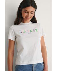 Calvin Klein Organisch T-Shirt Mit Logo - Weiß
