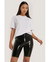 NA-KD Black Shiny Biker Shorts