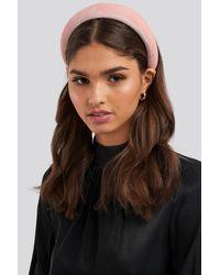 NA-KD - Puff Velvet Hairband Pink - Lyst