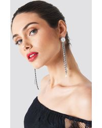 Trendyol - Hanging Rhinestone Earrings - Lyst