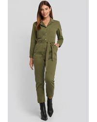 Mango Army One-piece Suit - Groen