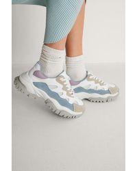 NA-KD Shoes Chunky Color Pop Trekking Sneakers - Blauw
