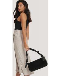 NA-KD Black Knot Strap Baguette Bag
