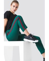 NA-KD Side Stripe Joggers - Grün