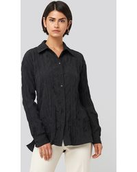 NA-KD - Creased Effect Blouse - Lyst