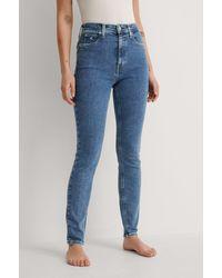 Calvin Klein Blue High Rise Skinny Jeans