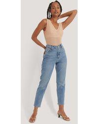 Mango Mom Jeans - Naturel