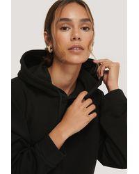 NA-KD Black Organic Basic Cropped Hoodie