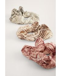 NA-KD 3-Pack Marble Print Scrunchies - Multicolore