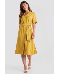 Mango Odena Dress - Geel