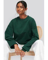 NA-KD Oversized Crewneck Sweatshirt - Groen