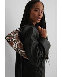 NA-KD Multicolor Curved Baguette Bag