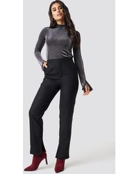 NA-KD - Dilara x Front Slit Suit Pants - Lyst