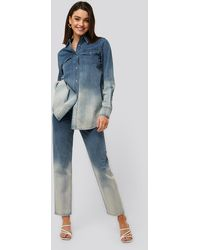 NA-KD Mom Jeans Met Hoge Taille - Blauw