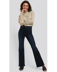 NA-KD Skinny Flare Jeans Blue