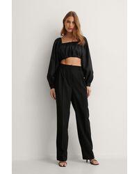 NA-KD Geplooide Pantalon - Zwart
