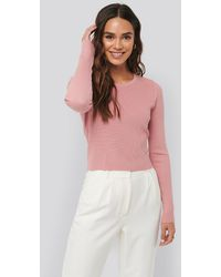 NA-KD Knot Detail Knitted Sweater - Pink