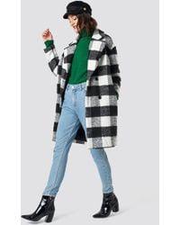 Glamorous Teddy Fur Coat White - Black